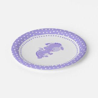 Prato De Papel Placas de papel do chá de fraldas roxo do