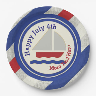 Prato De Papel Placas de papel do Dia da Independência náutico