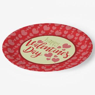 Prato De Papel Placas de papel do dia dos namorados vermelhas e
