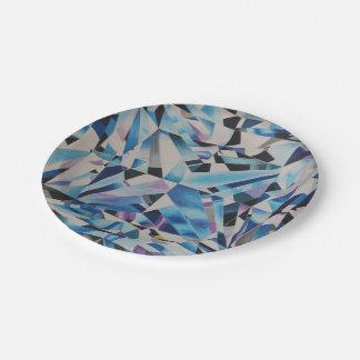 """Prato De Papel Placas de papel do diamante de vidro 7"""""""