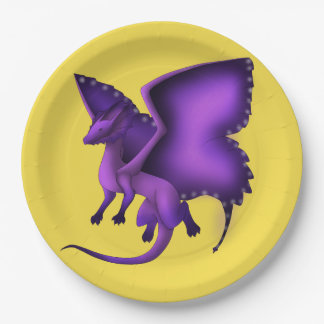 Prato De Papel Placas de papel do dragão Frilly da borboleta
