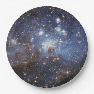 Prato De Papel Placas de papel do espaço - galáxia