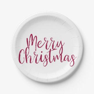 Prato De Papel Placas de papel do Feliz Natal