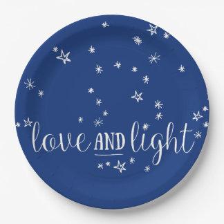 Prato De Papel Placas de papel do feriado do amor e da luz