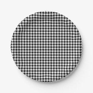 Prato De Papel Placas de papel do feriado preto e branco de