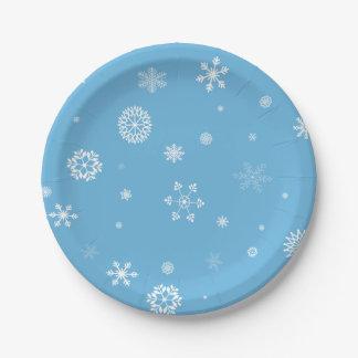 Prato De Papel Placas de papel do floco de neve