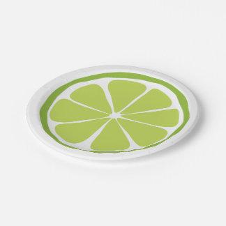 Prato De Papel Placas de papel do limão do citrino do verão