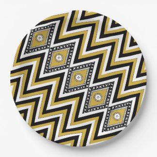 Prato De Papel Placas de papel do Masi de Chevron do ouro