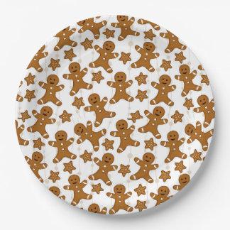 Prato De Papel Placas de papel do Natal do pão-de-espécie