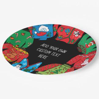 Prato De Papel Placas de papel do Natal feio da camisola