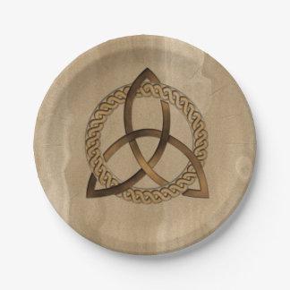 Prato De Papel Placas de papel do nó da trindade de Triquetra do