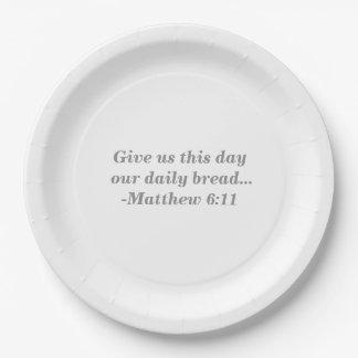 Prato De Papel Placas de papel do pão diário