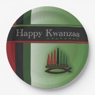 Prato De Papel Placas de papel do partido colorido de Kwanzaa