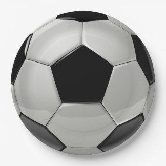Prato De Papel Placas de papel do partido da bola de futebol