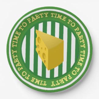 Prato De Papel Placas de papel do partido da cabeça do queijo de