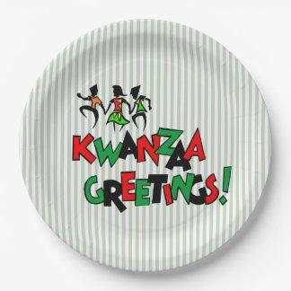 Prato De Papel Placas de papel do partido de Kwanzaa da batida da