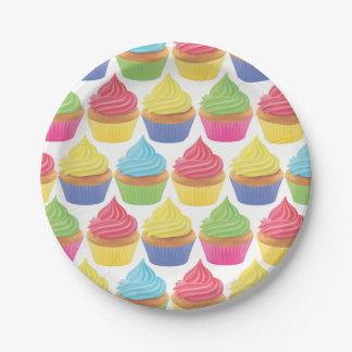 Prato De Papel Placas de papel do partido do cupcake