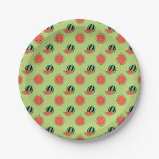 Prato De Papel Placas de papel do partido do melão