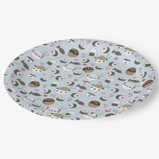 Prato De Papel Placas de papel do partido do sushi