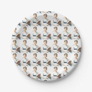 Prato De Papel Placas de papel do partido do tema de Jane Austen