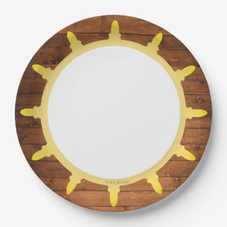 Prato De Papel Placas de papel do pirata