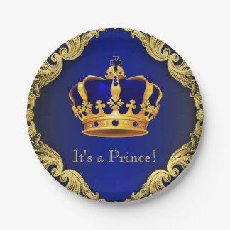 Prato De Papel Placas de papel do príncipe chá de fraldas dos