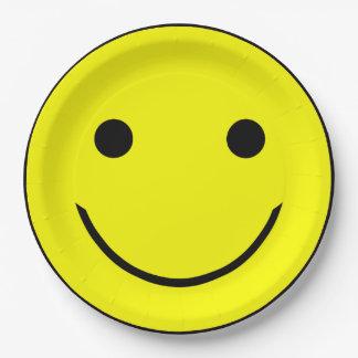 Prato De Papel Placas de papel do smiley face