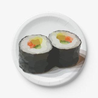 Prato De Papel Placas de papel do sushi