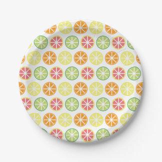 Prato De Papel Placas de papel do teste padrão do citrino