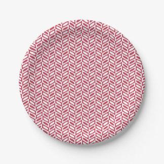 Prato De Papel Placas de papel do teste padrão geométrico