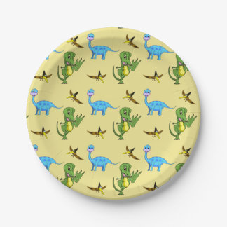 Prato De Papel Placas de papel dos dinossauros