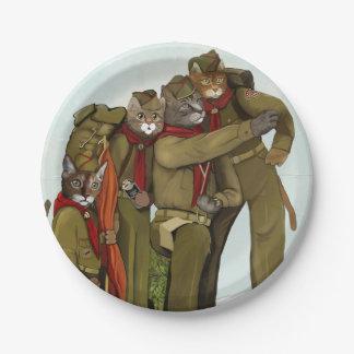 Prato De Papel Placas de papel dos escuteiros oficiais do gato