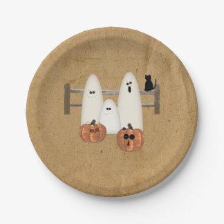 Prato De Papel Placas de papel dos fantasmas do país