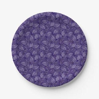 Prato De Papel Placas de papel dos figos violetas