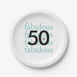 Prato De Papel Placas de papel festa de aniversário elegante da