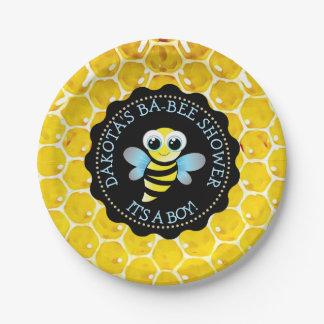 Prato De Papel Placas de papel personalizadas do chá de fraldas