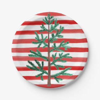 Prato De Papel Placas descartáveis da árvore de Natal