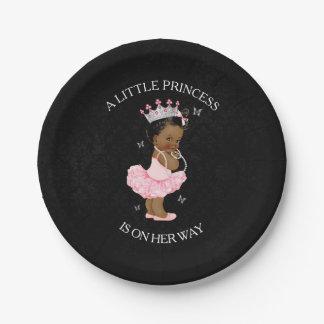 Prato De Papel Placas do chá de fraldas da princesa Menina do