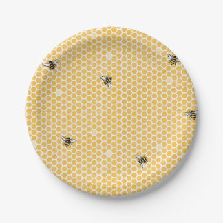 Prato De Papel Placas do partido da abelha