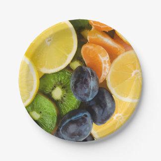 Prato De Papel Placas do partido da fruta fresca