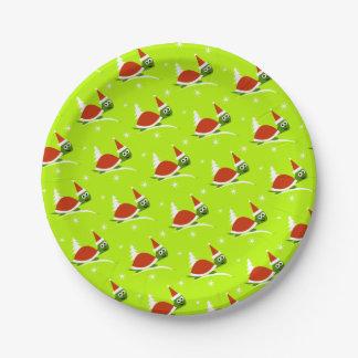 Prato De Papel Placas do partido do papel do Natal da tartaruga