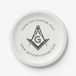 Prato De Papel Placas e decorações maçónicas personalizadas do