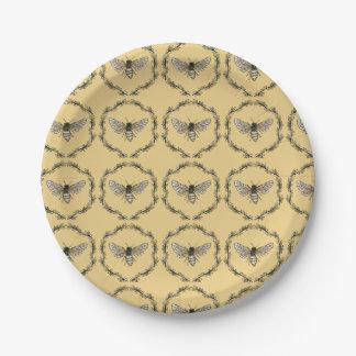 Prato De Papel Placas elegantes do impressão da abelha