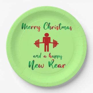 Prato De Papel Placas engraçadas do Gym da malhação de Fitmas do