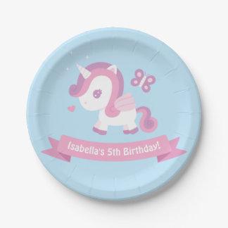 Prato De Papel Placas mágicas do aniversário das meninas do