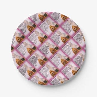 Prato De Papel Poema do design & do irmão do cão do Bloodhound
