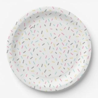Prato De Papel Polvilhe as placas do partido (brancas)
