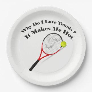 Prato De Papel Porque faz o tênis do amor de I. Faz-me quente