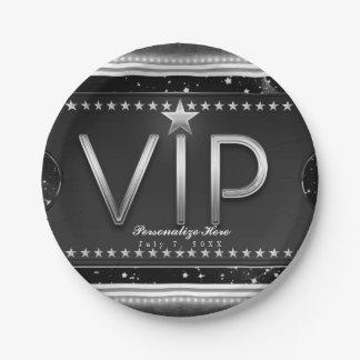 Prato De Papel Preto & partido do costume do bilhete do VIP das