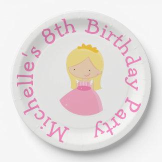 Prato De Papel Princesa e festa de aniversário louras do dragão